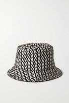 Thumbnail for your product : Valentino Garavani Reversible Printed Twill Bucket Hat - Black