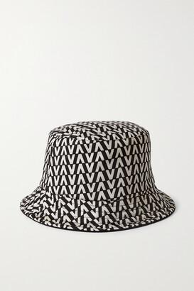Valentino Garavani Reversible Printed Twill Bucket Hat - Black