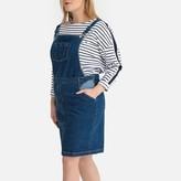 Castaluna Plus Size Denim Dungaree Pinafore Dress