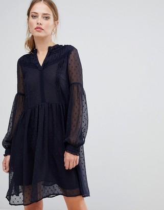 Y.A.S Luna sheer dotty mesh dress