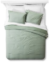 Threshold Chevron Texture Comforter Set