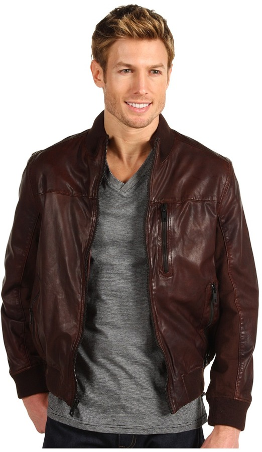 Marc New York Wales Leather Coat (Dark Brown) - Apparel