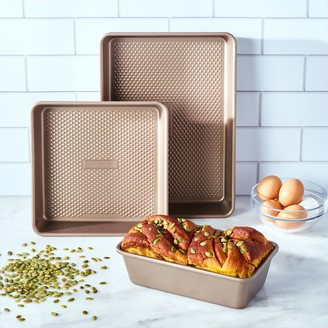 Food Network 3-pc. Bakers Textured Bakeware Set