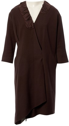 Louis Vuitton Brown Wool Dresses