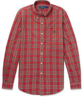 Polo Ralph Lauren Slim-fit Button-down Collar Checked Cotton Oxford Shirt - Red