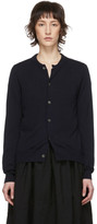 Comme des Garcons Navy Worsted Wool Cardigan
