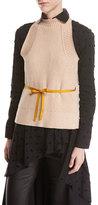 Palmer Harding Palmer//Harding Split-Back Halter Sleeveless Cotton Sweater