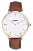 Cluse Women's La Boheme Leather Strap Watch, 38Mm