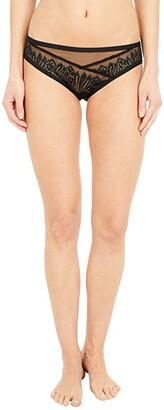 Calvin Klein Underwear Wave Lace 3.25 Global Bikini (Black) Women's Underwear