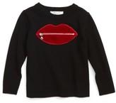 Milly Minis Toddler Girl's Zip Lip Sweater