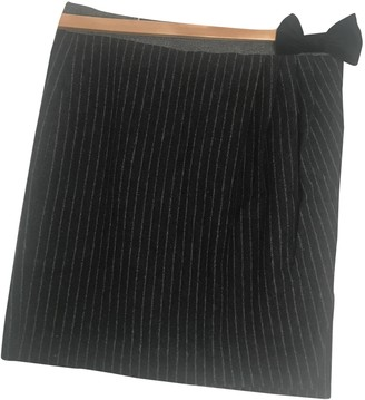 Hoss Intropia Anthracite Wool Skirt for Women