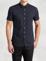 John Varvatos Abstract Polka Dot Short Sleeve Shirt