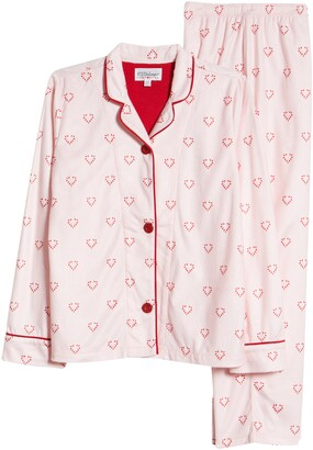 PJ Salvage Notch Collar Two-Piece Pajamas