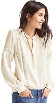 Gap Crochet panel peasant blouse