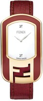 Fendi 'Chameleon' Leather Strap Watch, 29mm x 49mm