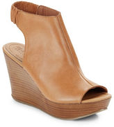 Kenneth Cole Reaction Sole Chic Leather Slingback Wedge Sandals