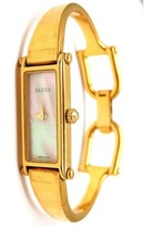 Gucci 1500L Gold Tone Stainless Steel & Mother of Pearl Dial Quartz Womens Watch