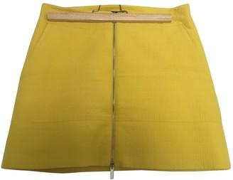 Karen Millen Yellow Cotton Skirt for Women