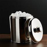 Crate & Barrel Easton Double-Walled Stainless Steel Ice Bucket