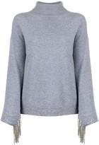 Christopher Kane cashmere embellished sleeve jumper