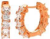 Crislu Hoop La-La 18K Rose Gold Sterling Silver Princess Hoop Earrings