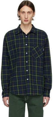 Noon Goons Navy and Green Check Sect Shirt