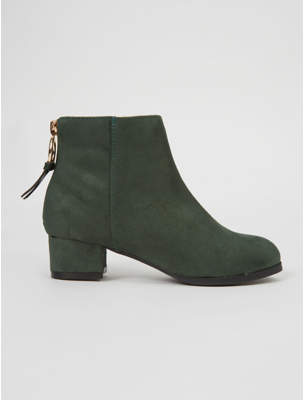 George Forest Green Heeled Sock Boots