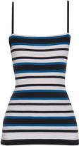 Dolce & Gabbana Striped ribbed-knit top