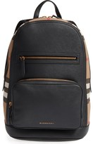 Burberry 'Marden' Check & Embossed Leather Backpack