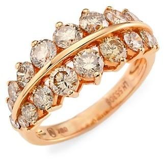 Etho Maria Gemini 18K Rose Gold & Brown Diamond Ring