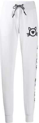 Philipp Plein Crystal Logo Track Pants