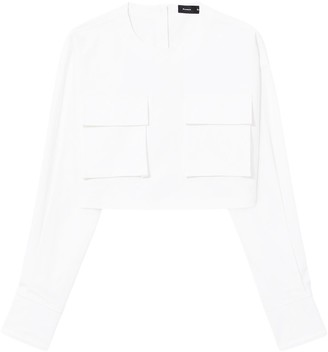 Proenza Schouler Long Sleeve Cotton Top
