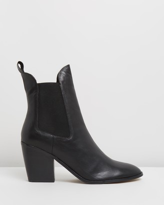 Atmos & Here Atmos&Here - Women's Black Chelsea Boots - Fae Leather Ankle Boots - Size 37 at The Iconic