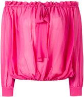 Miu Miu off shoulder pleated blouse