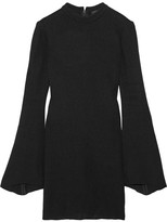 Ellery Duckie Stretch-knit Mini Dress - Black