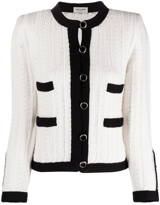 Saint Laurent Knitted Button-Up Cardigan