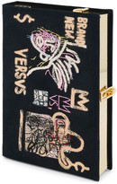 Olympia Le-Tan Olympia Le Tan Basquiat Versvs Artwork Book Clutch Bag with Strap