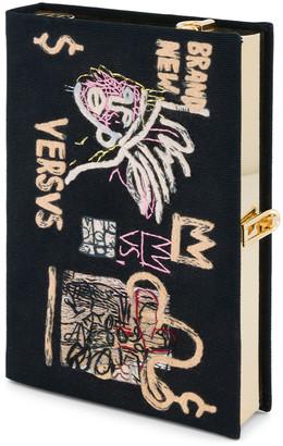 Olympia Le-Tan Olympia Le Tan Basquiat Versvs Artwork Book Clutch Bag with Strap