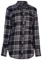 Firetrap Womens Blackaseal Open Back Shirt Long Sleeve Casual Cotton Chest