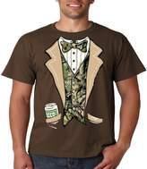 Juiceclouds Camo Tuxedo T Shirt Beer In My Pocket Mens Tee S-5XL (, 2XL)