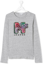 Little Marc Jacobs teen logo embroidered long-sleeve T-shirt