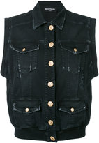 Balmain distressed denim vest