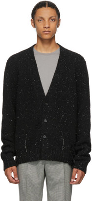 Maison Margiela Black Destroyed Hem Cardigan