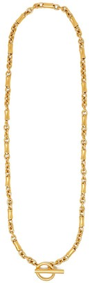 Ben-Amun Glod Plated Long Chain-link Necklace