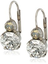 "Sorrelli Gold Vermeil"" Round Crystal French Wire Earrings"