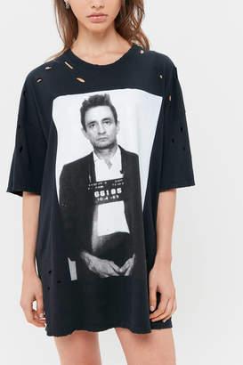 Urban Outfitters Johnny Cash Mug Shot T-Shirt Dress