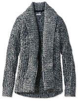 L.L. Bean Signature Shaker-Stitch Wool Cardigan, Marled