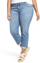 Eileen Fisher Plus Size Women's Stretch Organic Cotton Crop Boyfriend Jeans