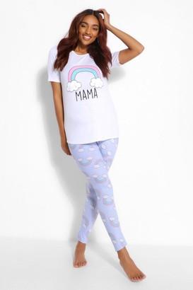 boohoo Maternity Rainbow Mama PJ Trouser Set