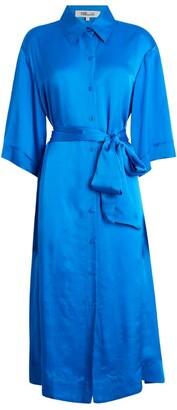 Diane von Furstenberg Silk Satin Shirt Dress